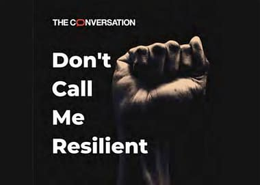 Don't Call Me Resilient logo